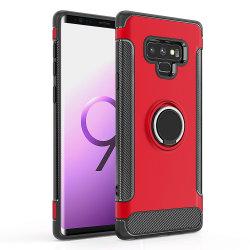 En gros titulaire de l'anneau 360 cas de téléphone pour Samsung Note 9 Couvercle Slim