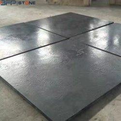Het gezwoegde Zwarte Kalksteen van de Oppervlakte voor Countertop/de Plak/de Tegel van de Straatsteen