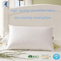 100%Polyester het vullen van het Zachte Hoofdkussen van de Stof Microfiber voor Hotel