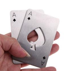 Aço inoxidável portátil carta de jogar poker Ferramenta Barra de Ace Of Spades Soda abridor tampa do vaso de cerveja