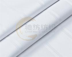 Tessuto bianco della banda 240t del raso del poli cotone per la tela dell'hotel