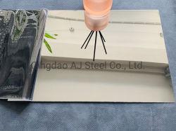 304 316 Miroir de découpe laser décoratifs plaque en acier inoxydable avec film Laser