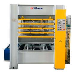 MDF용 Ws1200 * 4 도어 스킨 멜라민 유압 핫 프레스 머신