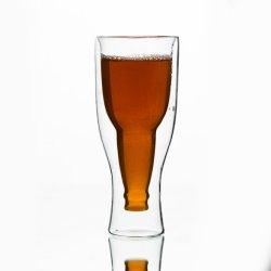 Cristalleria di vetro colorata irregolare eccellente della tazza di caffè della tazza della tazza di qualità di cappello della tazza di caffè della tazza di vuoto del tè su ordinazione di vetro di vetro di marchio