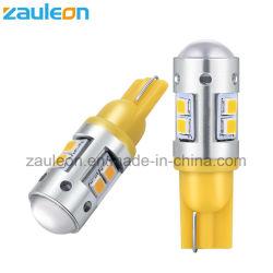 O LED T10 W5W 194 Super amarelo brilhante luz de canto, levou a luz dianteira Car, acender a luz da lâmpada automático