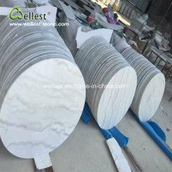 Guangxi mármore branco Acabamento polido, mármore redonda para Bar Café Topo Topo