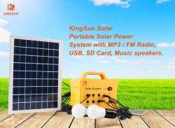 Het draagbare ZonneSysteem PV/Panel/Power/Energy/Home van gelijkstroom met Radio MP3/FM