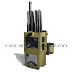 8つのバンドアーム袋携帯用手持ち型4G LteのWiFi GPS L1 L2の移動式ブロッカーシグナルの妨害機