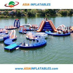 حديقة مائية تجارية كبيرة قابلة للانتفاخ، وحديقة ملاهي مائية عملاقة قابلة للانتفاخ