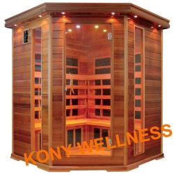 Lejos de la calefacción de carbón de la esquina sauna de infrarrojos de Canadá, el cedro, como muebles de baño, Baño seco Sala de sauna de la Belleza.