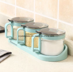Jarra de cristal de alta calidad para los condimentos y especias