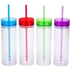 16oz vasos de plástico con tapas y pajas taza mayorista Imprimir vasos de plástico con logo impreso el logotipo personalizado