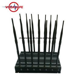 Câmera sem fio 1,2 g 2.4G 5.8G 14 bandas GSM móveis 3G 4G neuromusculares Bloqueios Celular GPS WiFi Lojack Jammers