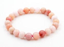 Rosa preciosos Opal Bracelete Gemstone cordões (6-10 mm)