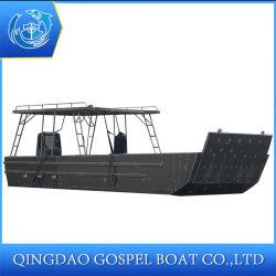 판매를 위한 알루미늄 공해 다중 기능 바지선 배 운반대 화물선 상륙용 주정 8 톤 적재 능력 11m
