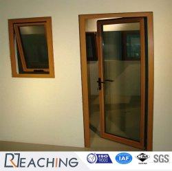 Panneau unique de l'aluminium porte en verre à charnières de portes à battants