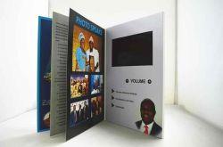 Tela LCD Brochura Vídeo livro com páginas