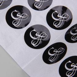 Sinicline vinheta autocolante com acabamento em preto brilhante Papel Grosso