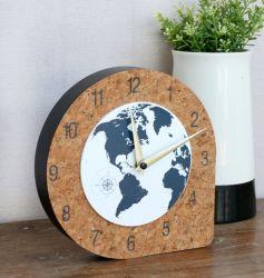 Forma de lágrima de madera Reloj de pared 20X23.8X4.7cm reloj decorativo de madera
