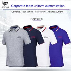 Commerce de gros de haute qualité Mens Turn-Down col polo décontracté Logo d'impression T Shirt