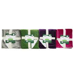 De solides micro Vison Polyester recyclé à 70%, retour 200gsm Sherpa Polyester recyclé à 70%, 50x60inch Blanket