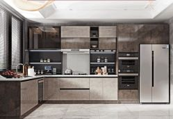 Modern New Trend Kitchen Furniture Fashion Econormic, very good Quality Design Nieuw Product Cheap modern Kitchen Cabinets, Melamine Plywood door