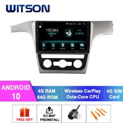 VW車のDVDプレイヤーの2012-2014年のPassat 4GBのRAM 64GBのフラッシュ大きいスクリーンのためのWitsonのアンドロイド10のマルチメディアプレイヤー車