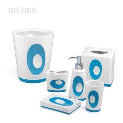 青い磁器の陶磁器の浴室のアクセサリの浴室セット