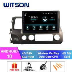 Multimedia dell'automobile del Android 10 di Witson per schermo istantaneo civico di RAM 4GB 64GB della Honda 2006-2011 (LHD) il grande in lettore DVD dell'automobile