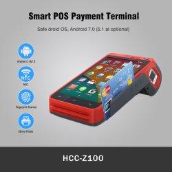 Escáner de códigos de barras del sistema Android POS biométricos de huellas dactilares del lector de tarjetas con chip (HCC-Z100C)