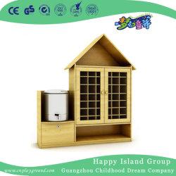 Chalet de madera de registro de la forma de estante de taza de té para niños (HJ-4301)