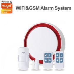 Commerce de gros Newest Tuya app sans fil WiFi+sécurité GSM maison intelligente Système d'alarme