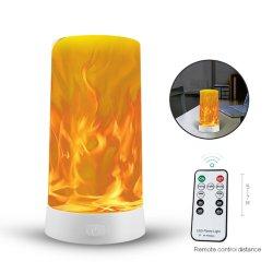 ضوء LED لأثر الشعلة ضوء ليلي قابل لإعادة الشحن وحدة التحكم عن بُعد المحمولة ضوء ليلي