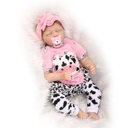 55см Bebes возрождается кукла естественный мягкая силиконовая возрождается Baby dolls игрушки для девочек подарком моды Baby dolls