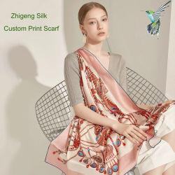 Bildschirm-Drucken-Handgerollten Silk Schal kundenspezifisch anfertigen