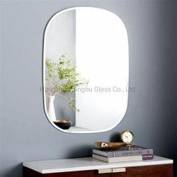 muur van de Spiegel van het Meubilair van de Decoratie van het Huis van de Rechthoek van 4mm 5mm zette de 6mm Ronde de Decoratieve Spiegel van de Badkamers van de Spiegel van het Bad van de Ijdelheid Bovenkant Afgeschuinde op