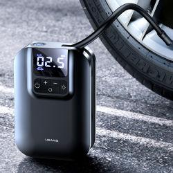 휴대가 간편한 Usams Zb215 휴대용 80W ABS 무선 소형 인플레이터블 컴프레서 차량형 전동 이동식 자동차 공기 펌프