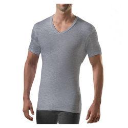 قميص تحت القميص مقاوم للسويحة للرجال مع وسادات عرق تحت الذراع، ملاءمة رفيعة قميص الدفاع عن العرق، ممتصّ بالرطوبة، متدفق على شكل V-Neck
