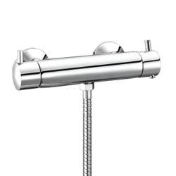 Роскошный латунный корпус термостата бар ванной душем под струей горячей воды электродвигателя смешения воздушных потоков