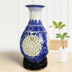الصين قوّر عاج خزف, يزجّج زرقاء وإناء زهر بيضاء, زهرة حلية, حرفة صانية [هندمد] بيتيّة, [فلوور فس]