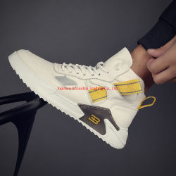 Usine de gros de chaussures de sport cuir Small Blanc Chaussures Hommes 2019 Nouveau haut haut Chaussures de sport de loisirs de plein air tendance coréen All-Around conseil Chaussures de mode