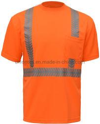Camicia riflettente di vendita calda di sicurezza di scambio di calore di Birdeye del poliestere di marchio di adattamento