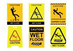 Avertissement sur mesure en aluminium sol mouillé aluminium réflectif sécurité du contrôle de la circulation Signes d'avertissement