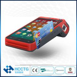 Terminale tenuto in mano di pagamento di carta di credito della macchina di posizione del lettore 4G di Msr+IC Chip+NFC con certificazioni di RoHS del Ce del PCI EMV dello scanner del codice a barre dell'impronta digitale le 2D (HCC-Z100)