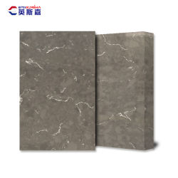 Piedra de cuarzo artificial artificial / superficie pulida encimera Lavabo losa etc personalizado