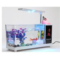 生態学の組み込みフィルターおよびLEDライトが付いている小型魚飼育用の水槽のアクアリウム