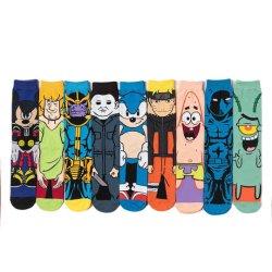 Calzini di lavoro a maglia di Chaussettes del reticolo divertente dei calzini del Anime degli uomini