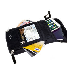 Carte noire personnalisé de gros Fengdeng Wallet Rifd titulaire du passeport personnalisé