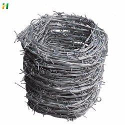 Venda a quente de arame farpado galvanizado Comprimento do fio por rolo /25kg cerca de arame farpado