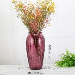 Estilo nórdico Mini transparente de vidro cristalino reacendeu vaso de flores para decoração de casamento